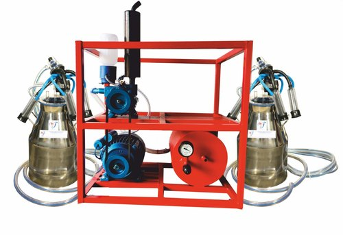 Two Buckets piston Milking Machine For Cows