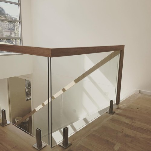 Deck Solid Wood Wooden Glass Staircase Railing, For ...