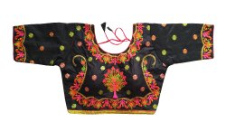 Ladies Party Wear 3/4th Sleeve Silk Embroidered Blouse