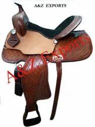 Brown Leather Western Saddle Tack