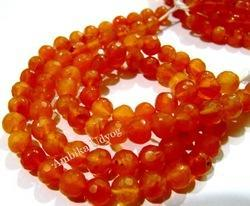 Natural Faceted Carnelian Gemstone Beads