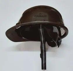 Safety Helmet Ratchet Strap Brown