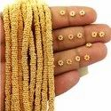 Gold Plated 4mm Daisy Spacer Beads Strand