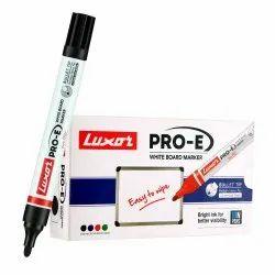 Plastic Luxor 1885 Pro-E Refillable White Board Marker - Black