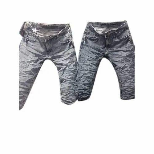 Stylies Slim Fit Cargo Denim Jeans, Waist Size: 28 30 32 34