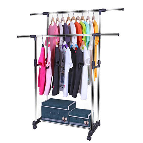 Image result for double pole telescopic clothes rack