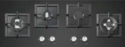 Glass Polished Tek Hob 100-4 Cooking Range, For Hotel