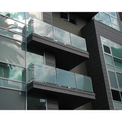 Welded Stainless Steel Glass Railing