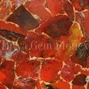 Red Jasper with Gold