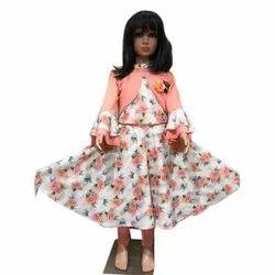 Girls Party Wear Printed Dress, Medium, Age: 9-12 Year