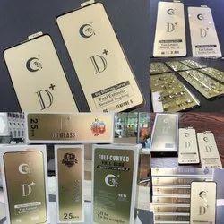 Gtel OG Tempered Glass D/plus glass, Packaging Type: Box