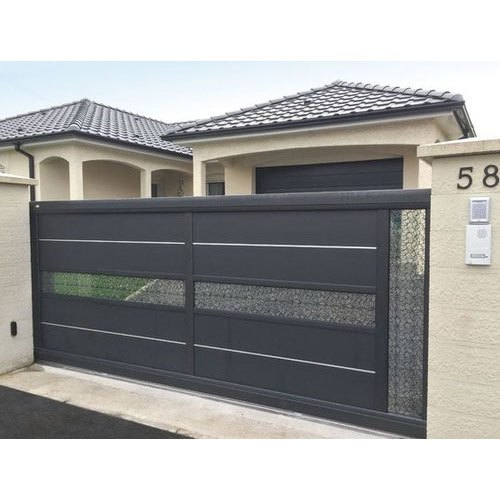 Modern Automatic Mild Steel Sliding Gate For Residential ...