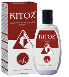 Kitoz Shampoo With Zinc Pyrithione & Biotin