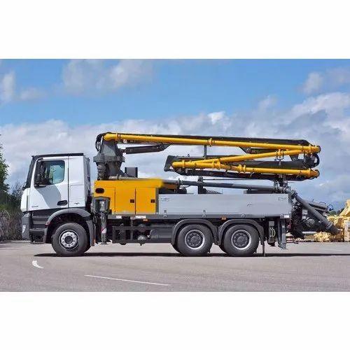 Truck Mounted Concrete Pump, Capacity: 3742 Mt, Rs 2720839 /piece Risheek Automotive | ID: 20680612433