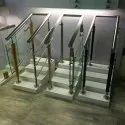 Balcony Flat 304 Stainless Steel Baluster, For Home