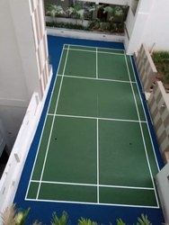Outdoor Badminton Court Flooring Service synthetic acrylic