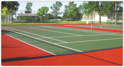 Outdoor Blue And Green Badminton Court Flooring