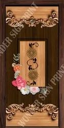 Living Room Printed Door Skin Paper