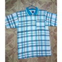 Checked Collar T Shirts