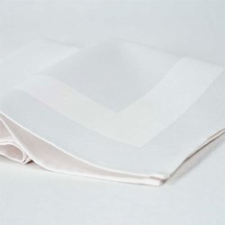 Damask Plain White Square Cotton Napkin, For Hotel Use, Size: 12 * 12