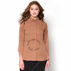 Brown Plain Ladies Shirt