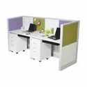 Wooden Aluminum frame Office Workstation