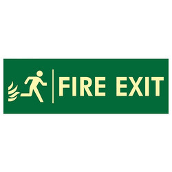 Fire Exit Right Door Safety Signage