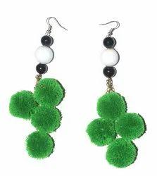 Earring Pom Pom Jewelry