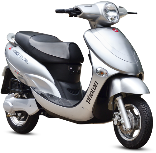 Grey Hero Electric Photon 48V Scooty, Charging Time: 4-5 Hours, | ID:  22167627697