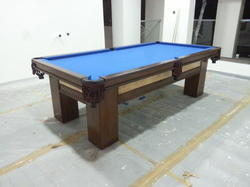Blue Cloth Pool Table