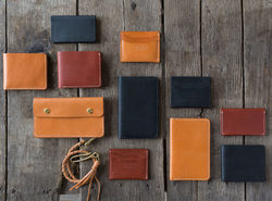 Leather Wallets And Card Holders And Keychains