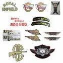 Royal Enfield Monogram Sticker Spare Parts - Sticker Golden, Silver, Tool Box Stiker, Etc