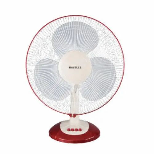 Havells Electricity Swing LX Cherry and White Table Fan, 400 mm