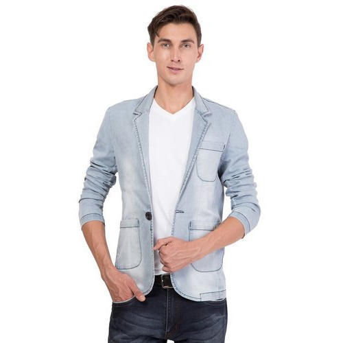 Medium Slim Fit Mens Faded Denim Jacket 272932ae7b7