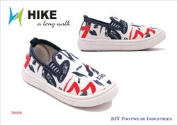 k 2 White Denim  Children Canvas Shoes