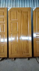 Design Long Wooden Panel Door