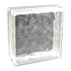 Clear Cloudy Glass Bricks