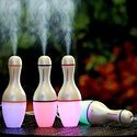 Bowling Shaped Air Freshener Humidifier with LED Night Light for Car, Home and Office