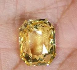 Natural Ceylon Yellow Sapphire With Gii Report No Heat No Treatment