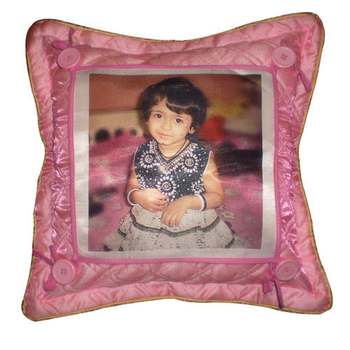 Light Maroon Fur Sublimation Cushion, Size: 10 X 14