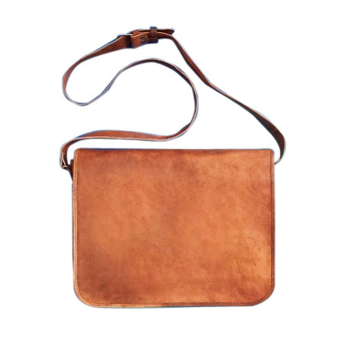 4dbbfdf26410 Craftsmen Brown Plain Leather Sling Bag