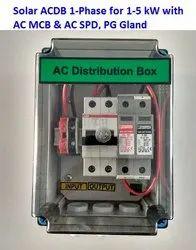 Solar ACDB 1-6 KW with AC SPD, AC MCB