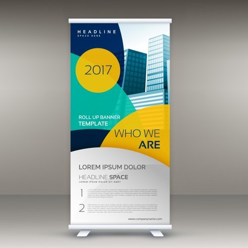 Roll Up Banner Standee, Size: 6 X 3 Feet