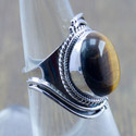 925 Sterling Silver Jewelry Tiger Eye Gemstone Ring Wr-5254
