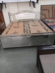 Polished Stainless Steel Bed, for Home