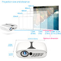 Punnkk P1 Mini LED Airplay Projector