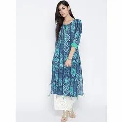 Designer Printed Cotton Kurti with Palazzo