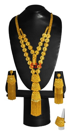 Indian Gold Plated Long Necklace Beautiful Rajasthani Style