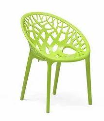 Supreme Armless Plastic Chair Crystal