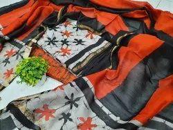 Bagru Hand Print Chanderi Dress Meterials